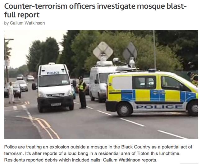 bomb mosquee tipton
