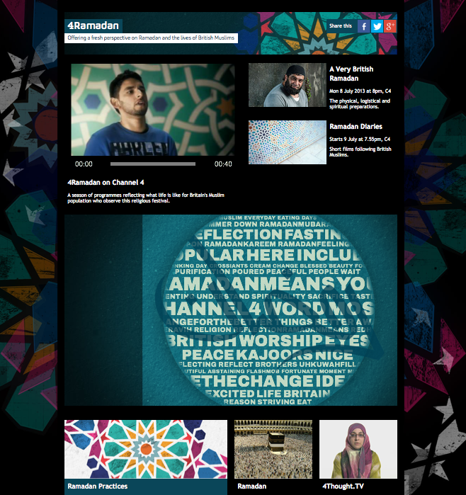 Ramadan sur Channel 4, le site