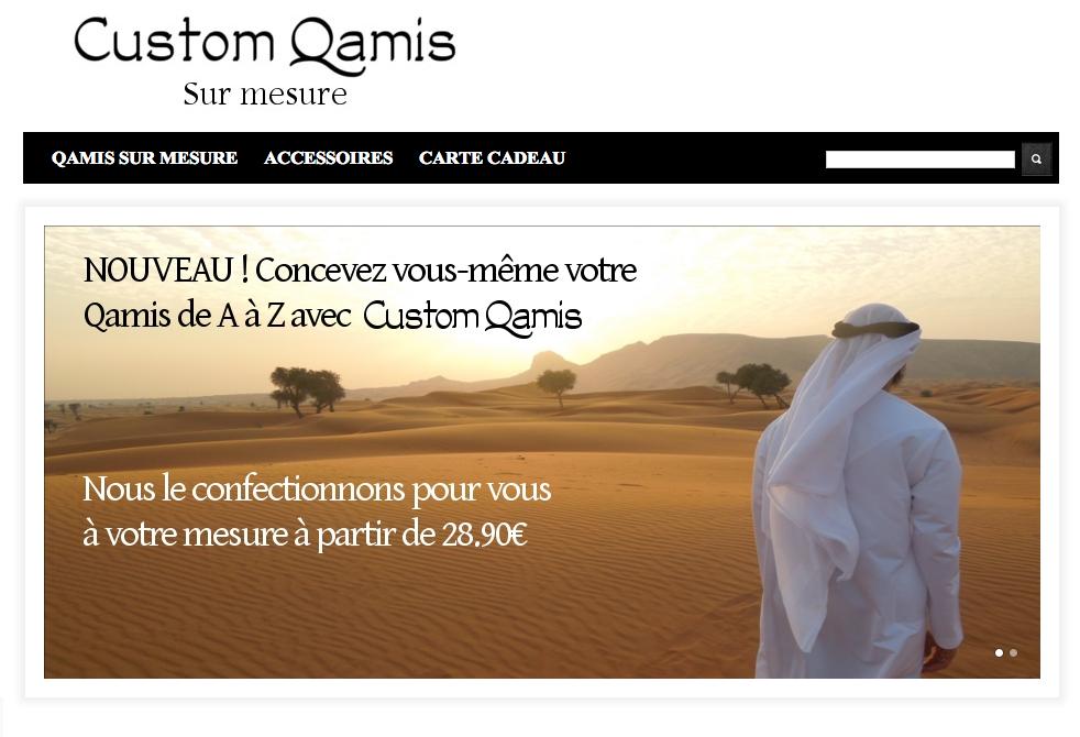 Custom Qamis, qamis sur mesure