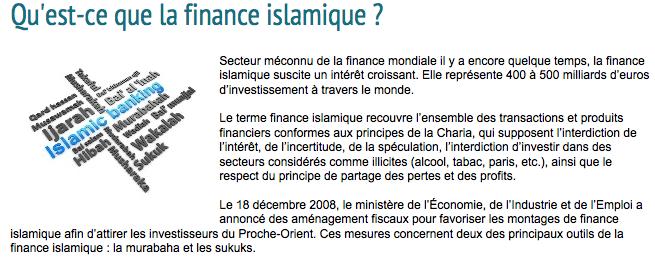 France : la finance islamique au ministère de l'Economie et des Finances