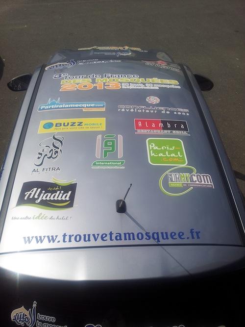 Tour de France des mosquées 2013 : la voiture