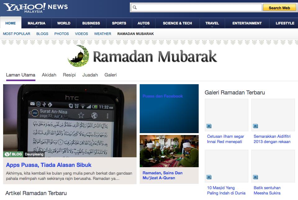 yahoo malaisie ramadan mubarak