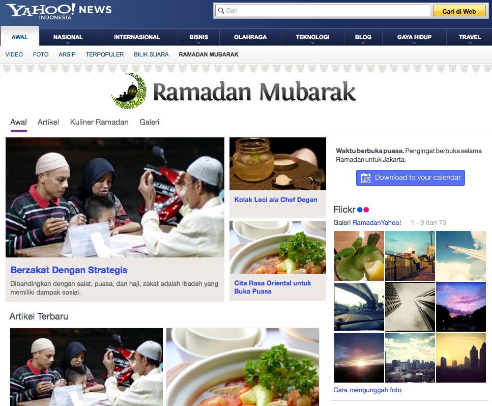 yahoo Indonésie ramadan mubarak