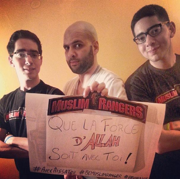 Muslim Rangers de Bruxelles avec Aissatou