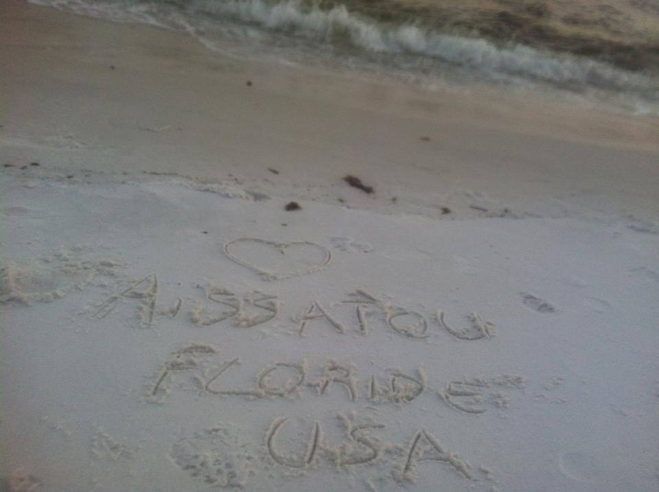 avec Aissatou depuis la Floride USA