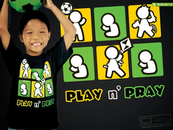 deenify tshirt enfant play n pray