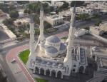 mosquee à Dubai vue d'un drone