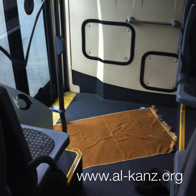 priere dans un bus