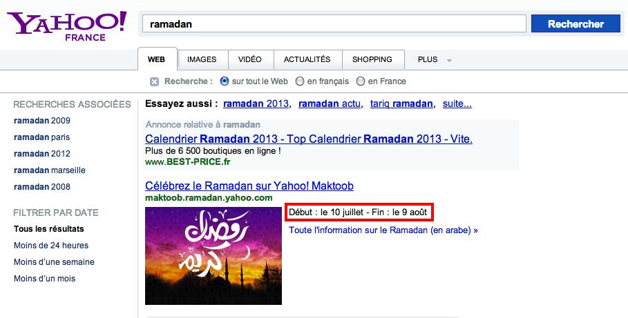 yahoo ramadan 10 juillet 9 août