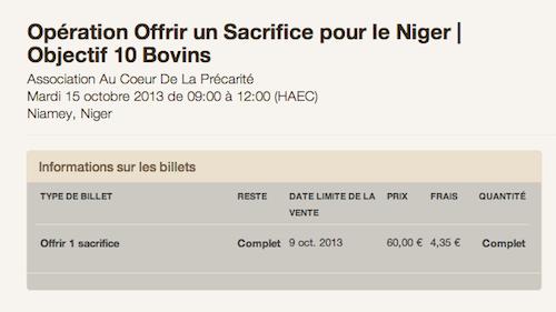 10 boeufs pour le Niger