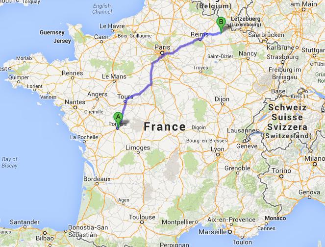 De Poitiers à Buzancy