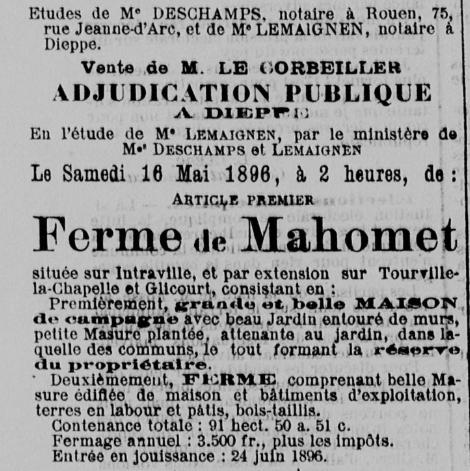 Ferme de Mahomet 1896