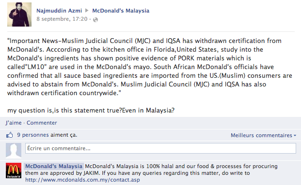 McDonald's Malaisie