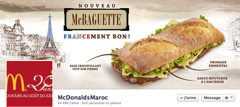 McDonald's Maroc Facebook