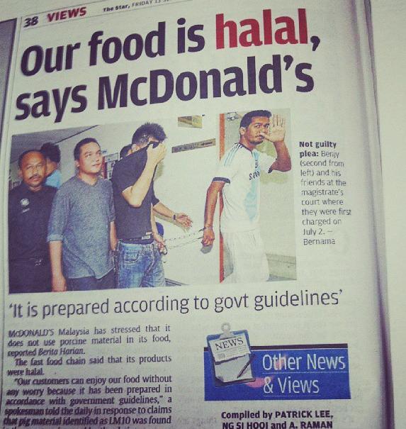 McDonald's non halal en Malaisie