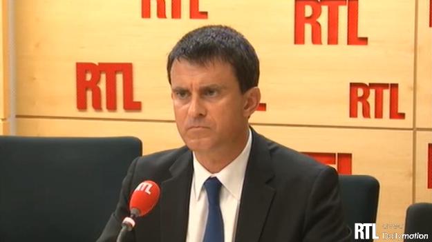 manuell valls sur RTL