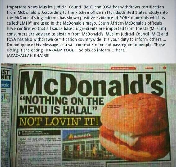 mcdo non halal buzz