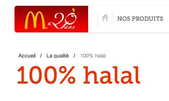 mcdonald's maroc 100 % halal