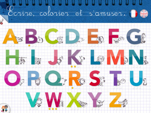 kidschool applications pour apprendre l 39 alphabet en. Black Bedroom Furniture Sets. Home Design Ideas