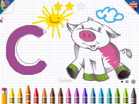 KidSchool - Mon premier alphabet en Français & Anglais pour iPad 1