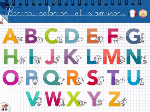 Kidschool applications pour apprendre l 39 alphabet en - L alphabet en francais a imprimer ...