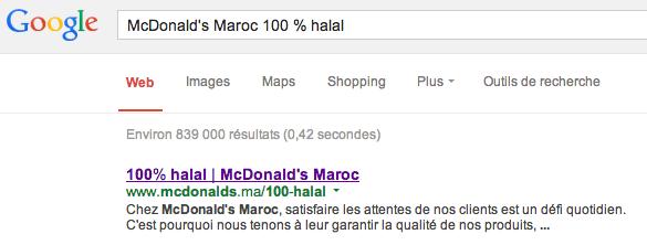 McDo Maroc halal page 404