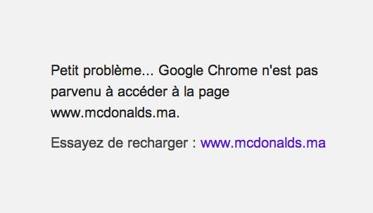 Site McDonald's Maroc