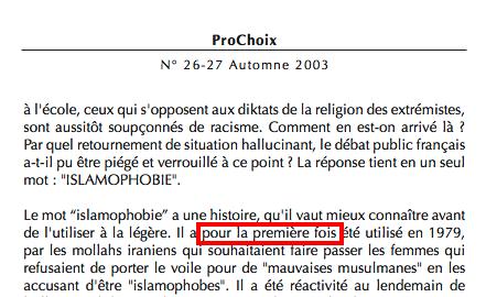 islamophobie fourest premiere fois disparu revue prochoix