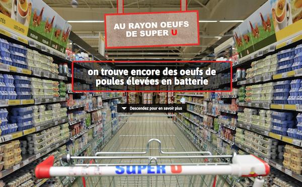 oeufs de batterie chez Super U