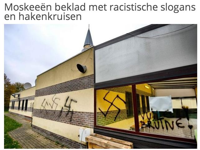 croix gammée mosquée Limburg