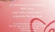 don du sang mosquée Eyyub Sultan Strasbourg