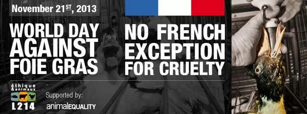 foie gras journée mondiale le 21 novembre 2013