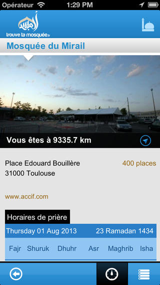 trouve ta mosquee application iPhone 3