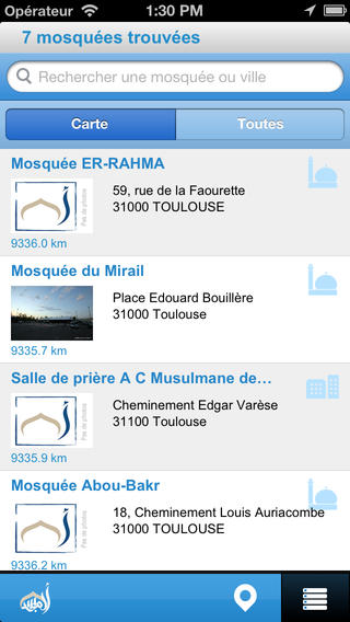 trouve ta mosquee application iPhone 4