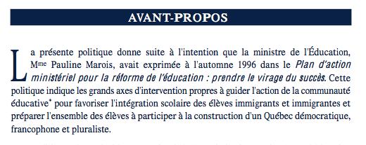 Politique Matiere Integration Scolaire EducInterculturelle _ Une Ecole Avenir