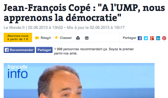 copé démocratie