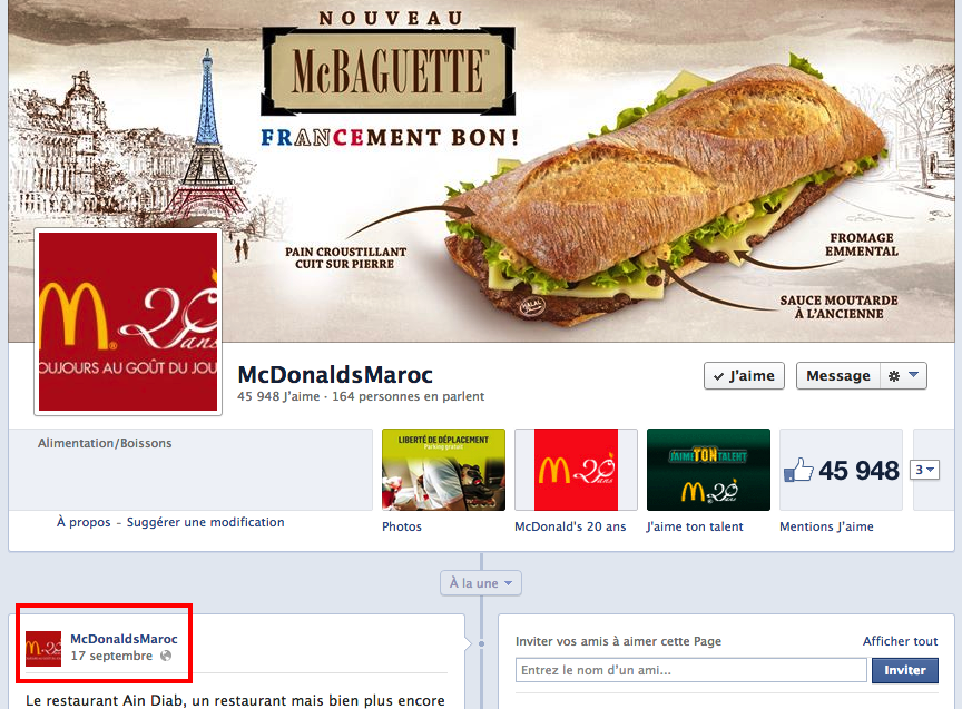 mcdo maroc facebook 8 décembre