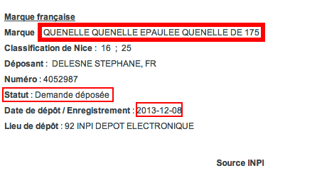 quenelle inpi stephane desnelle