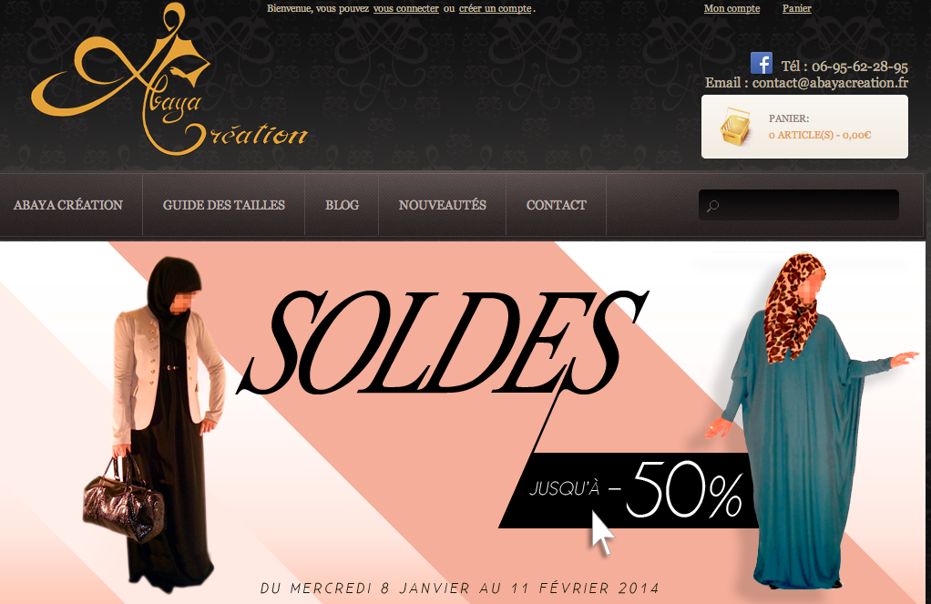 abaya creation soldes