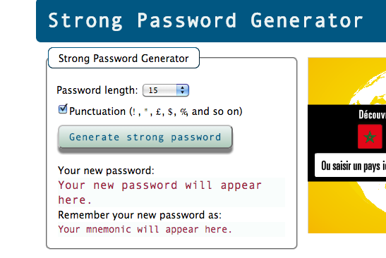 strong generator password