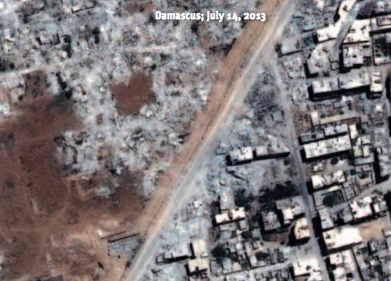 syrie quartier rasé