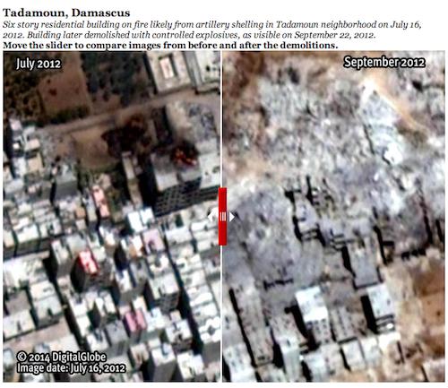 syrie quartiers entiers rasés 2