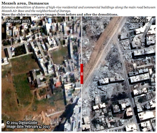 syrie quartiers entiers rasés