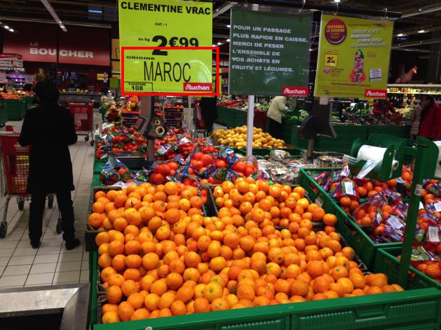 Auchan Clementine Mandarine Maroc Israel