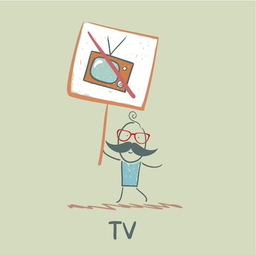 non a la télévision