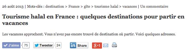 tourisme halal en France