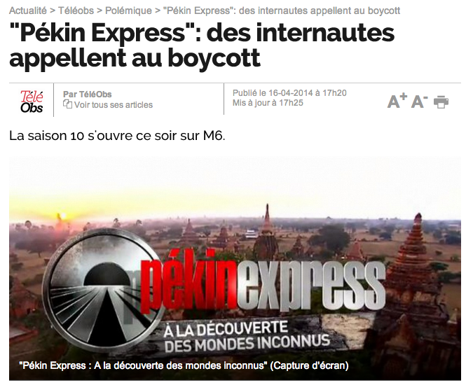 Pekin express nouvel obs