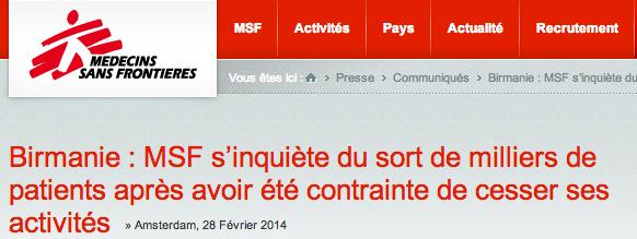 medecins sans frontière - MSF