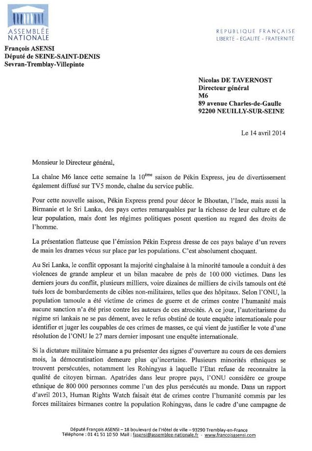 Pekin Express François Asensi