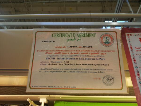 auchan charal certificat scfvh